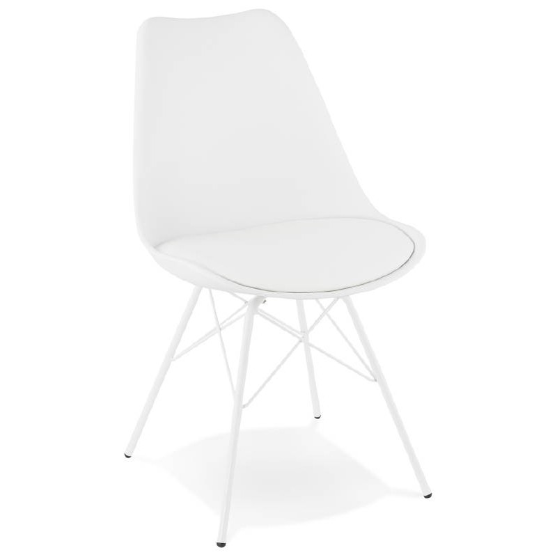 Chaise design style industriel SANDRO (blanc)