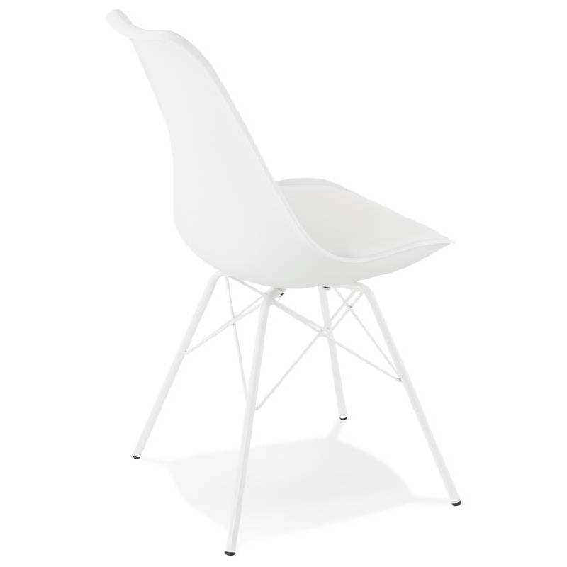 Chaise design style industriel SANDRO (blanc) - image 39020
