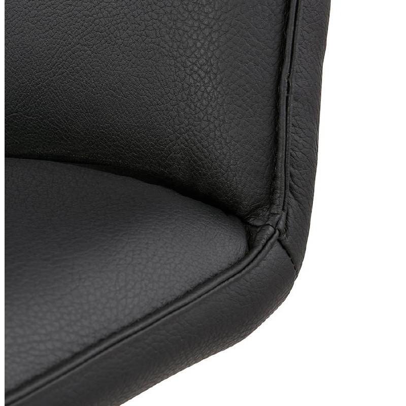 Fauteuil design pivotant MIRANDA (noir) - image 39075