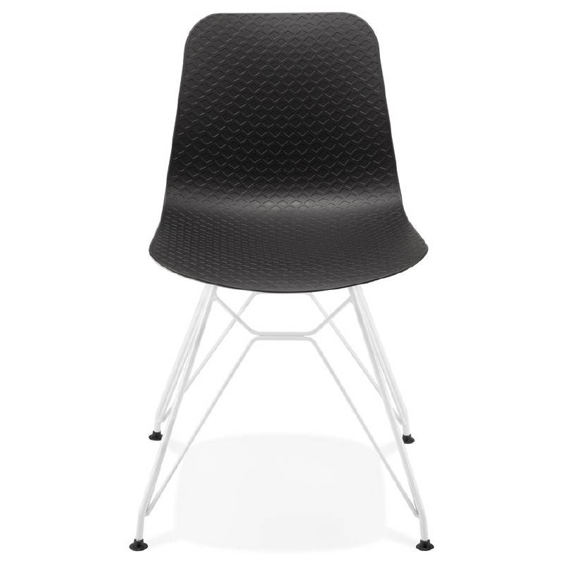 Chaise design et moderne VENUS en polypropylène pieds métal blanc (noir) - image 39109