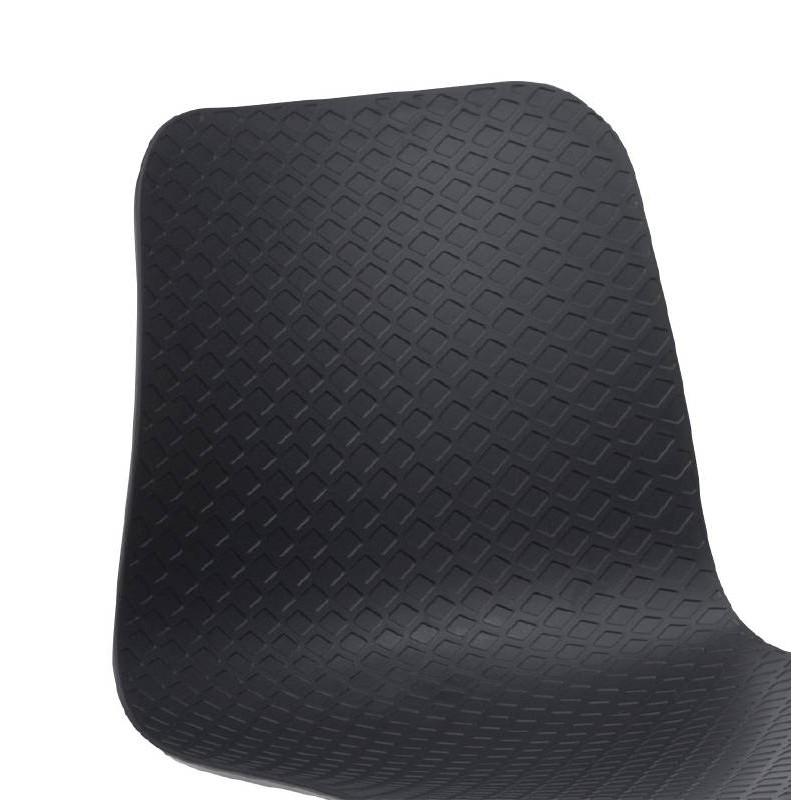 Chaise design et moderne VENUS en polypropylène pieds métal blanc (noir) - image 39112