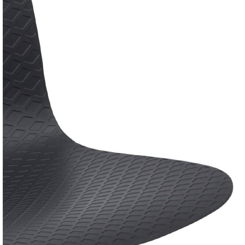Chaise design et moderne VENUS en polypropylène pieds métal blanc (noir) - image 39113