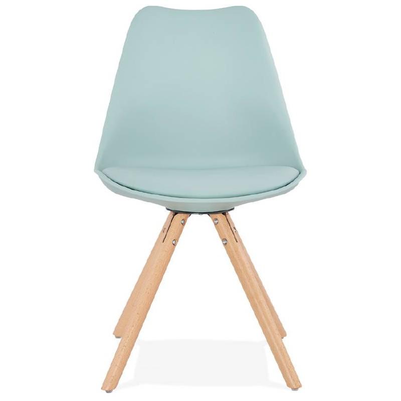 Chaise moderne style scandinave NORDICA (bleu ciel) - image 39117