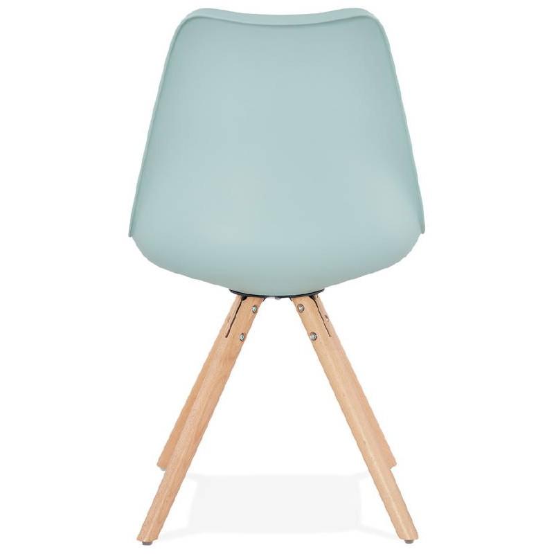 Chaise moderne style scandinave NORDICA (bleu ciel) - image 39120