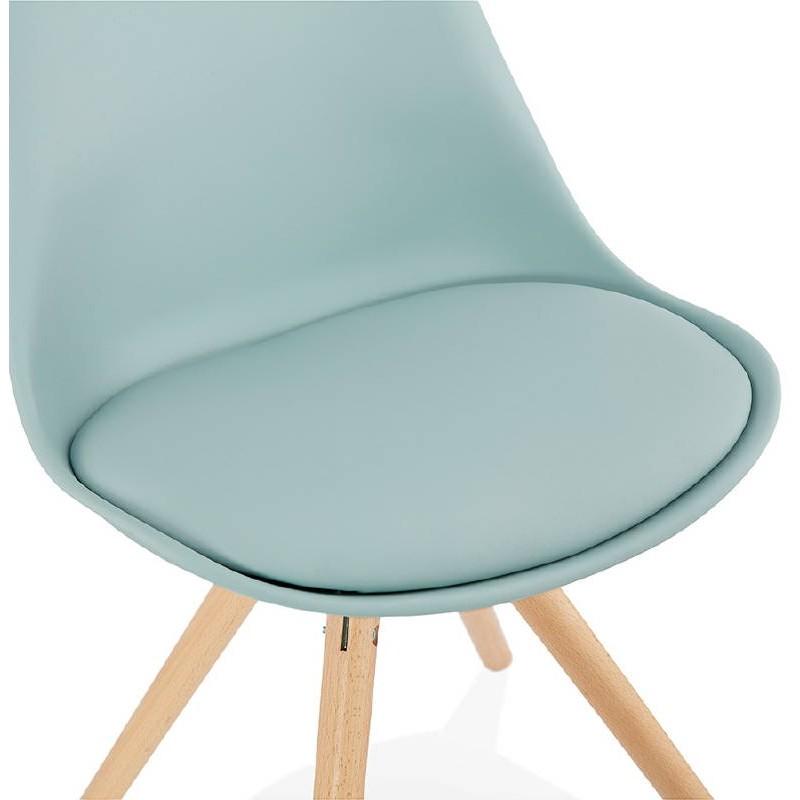 Chaise moderne style scandinave NORDICA (bleu ciel) - image 39121
