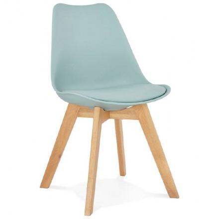 Modern Chair style Scandinavian Mermaid (sky blue)