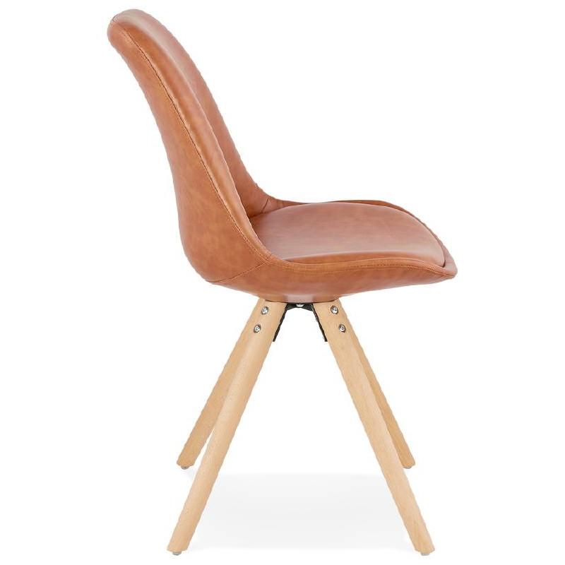 Chaise design ASHLEY pieds couleur naturelle (marron) - image 39176