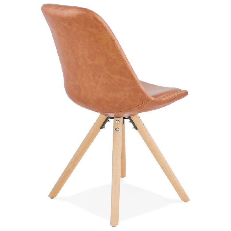 Chaise design ASHLEY pieds couleur naturelle (marron) - image 39177