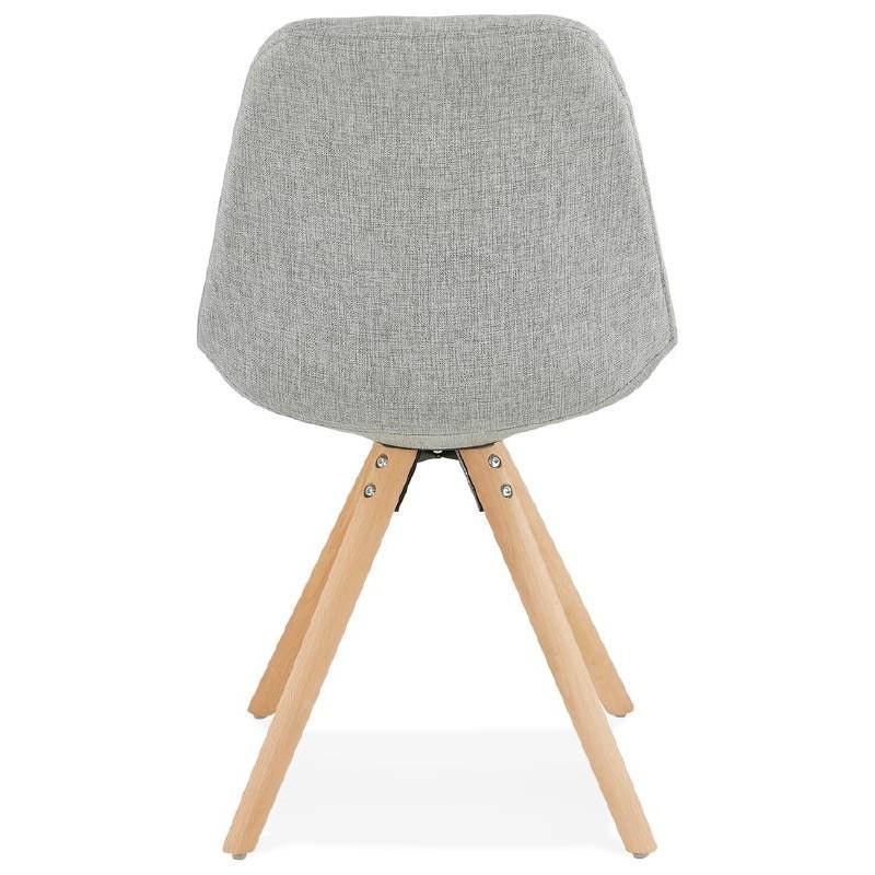 Sedia design scandinavo piedi colore naturale (grigio chiaro) del tessuto di ASHLEY - image 39201