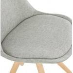 Sedia design scandinavo piedi colore naturale (grigio chiaro) del tessuto di ASHLEY