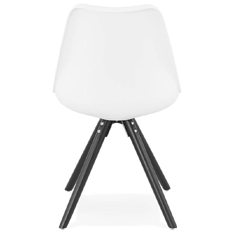 Chaise design ASHLEY pieds noirs (blanc) - image 39215