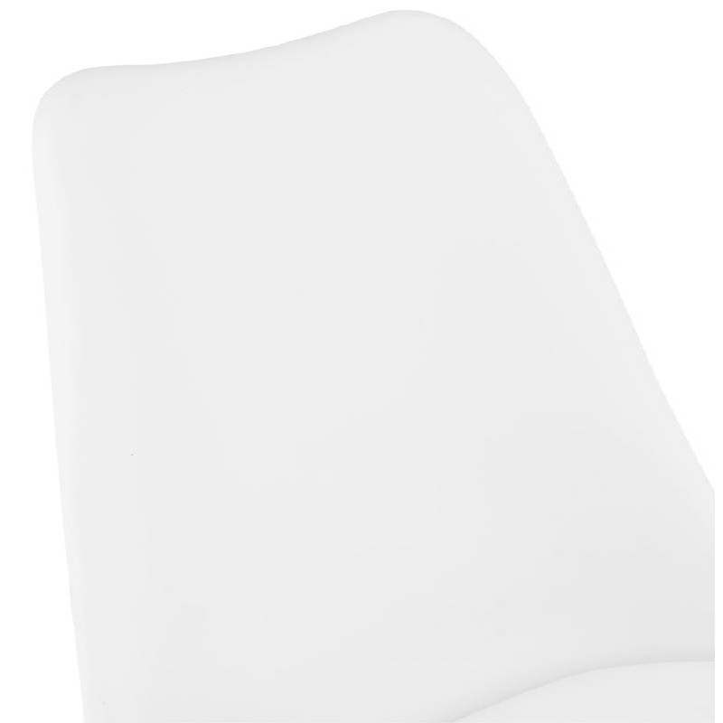 Chaise design ASHLEY pieds noirs (blanc) - image 39216