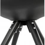 Diseño silla ASHLEY pies negro (negro)