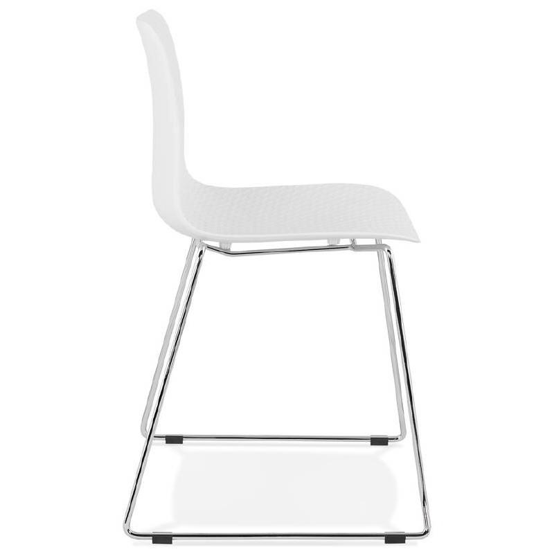 Piede di ALIX sedia moderno cromato in metallo (bianco) - image 39250