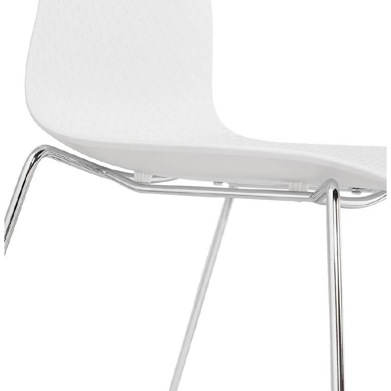 Piede di ALIX sedia moderno cromato in metallo (bianco) - image 39255