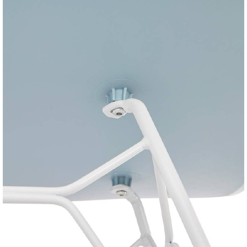 Design and modern Chair in polypropylene feet (blue) white metal - image 39290