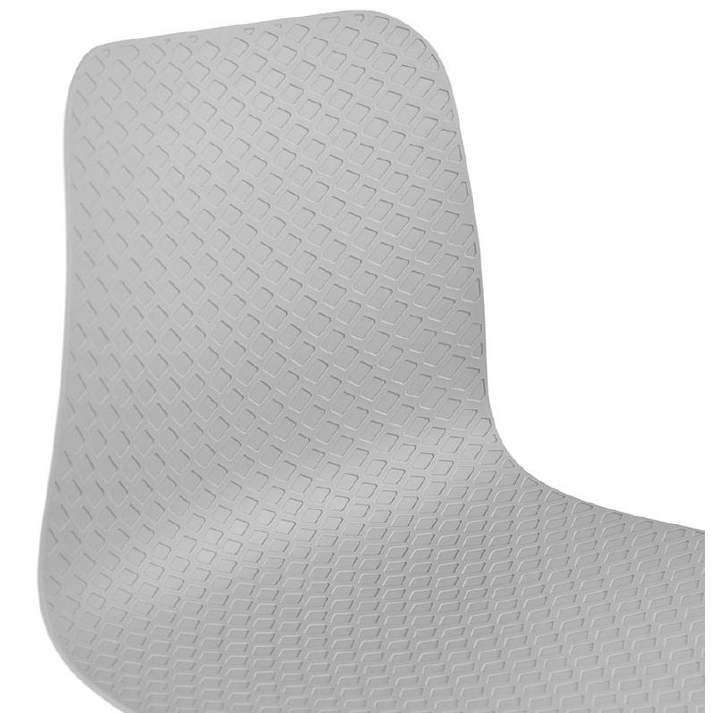 Design and modern Chair in polypropylene feet white metal (light gray) - image 39298