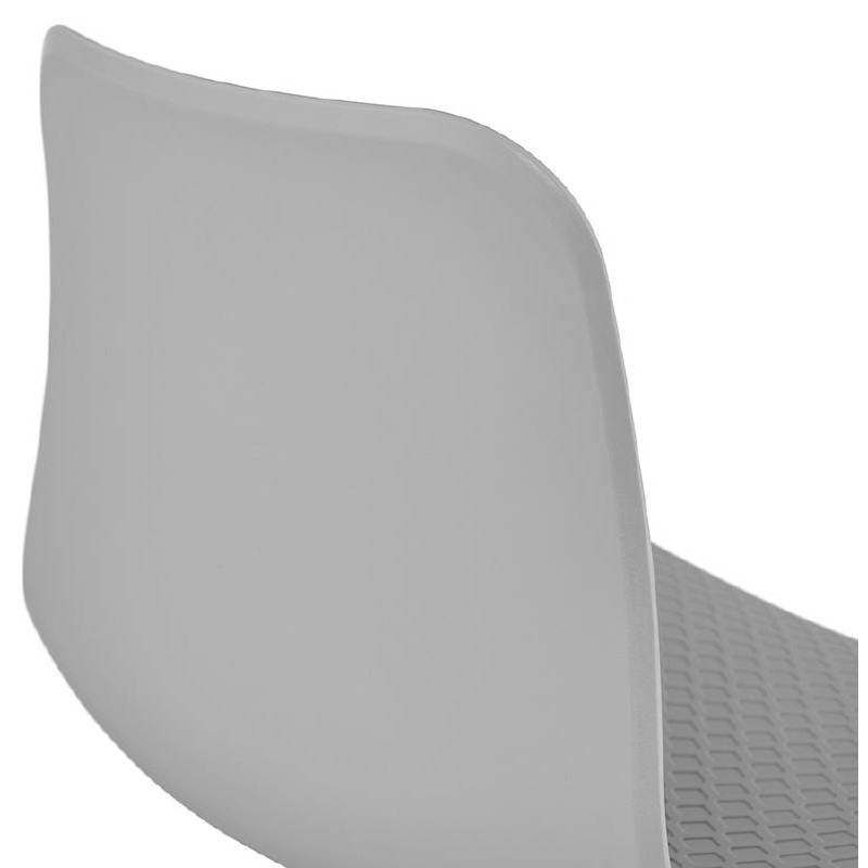 Design and modern Chair in polypropylene feet white metal (light gray) - image 39300