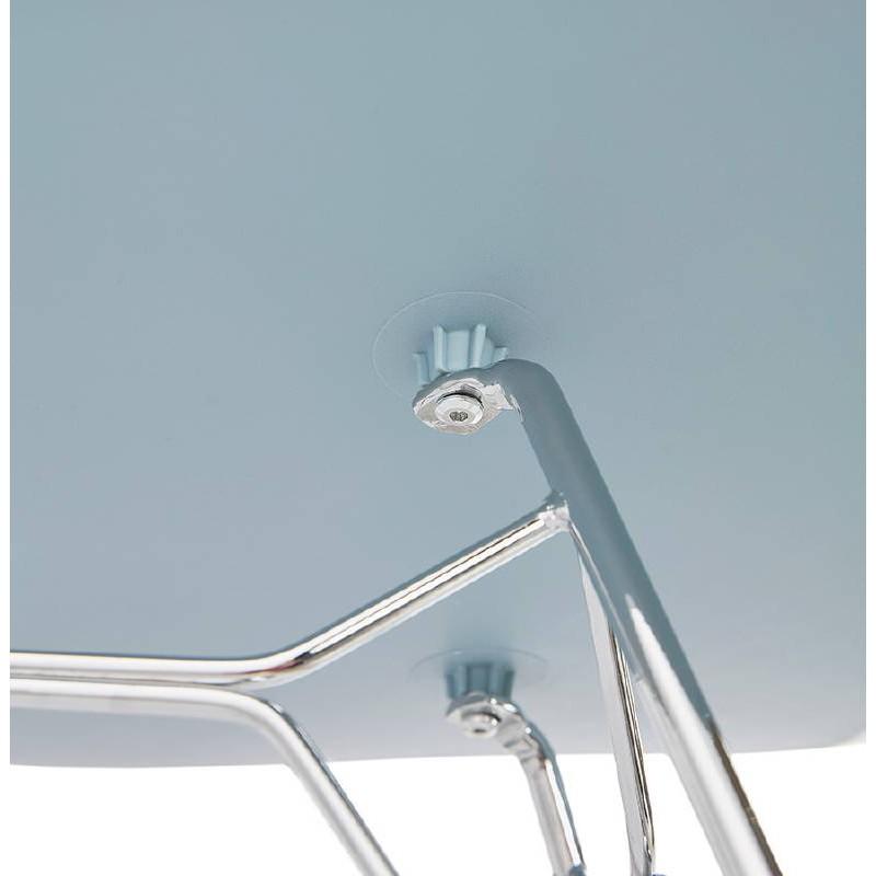 Design und industrielle Stuhl aus Polypropylen (himmelblau) verchromte Metallbeine - image 39326