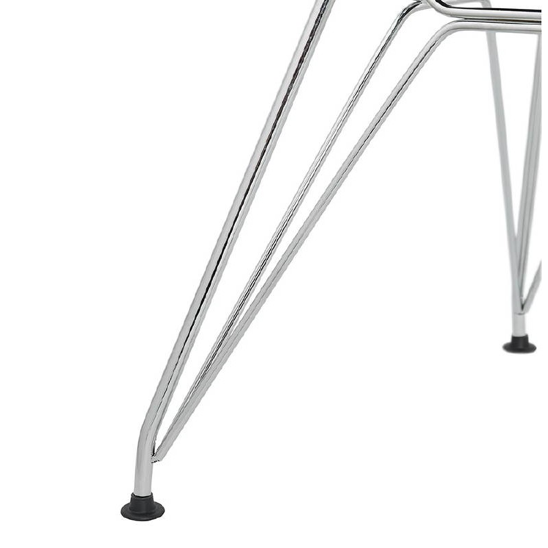 Design und industrielle Stuhl aus Polypropylen (himmelblau) verchromte Metallbeine - image 39328
