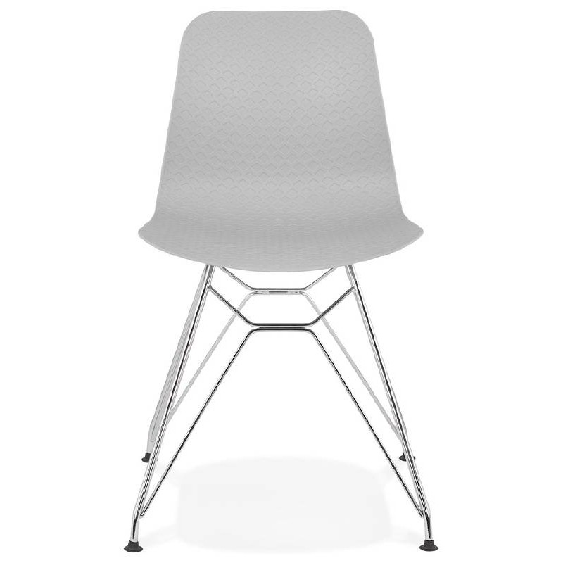 Design and industrial chair from polypropylene feet chrome metal (light gray) - image 39331