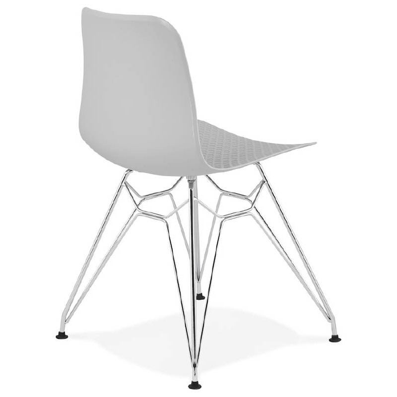 Design and industrial chair from polypropylene feet chrome metal (light gray) - image 39333