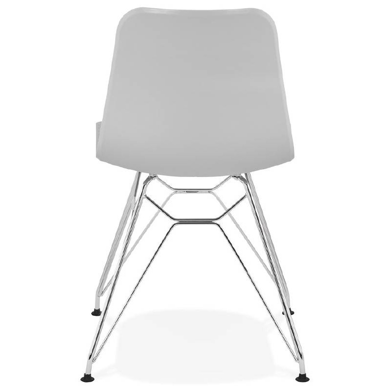 Design and industrial chair from polypropylene feet chrome metal (light gray) - image 39334