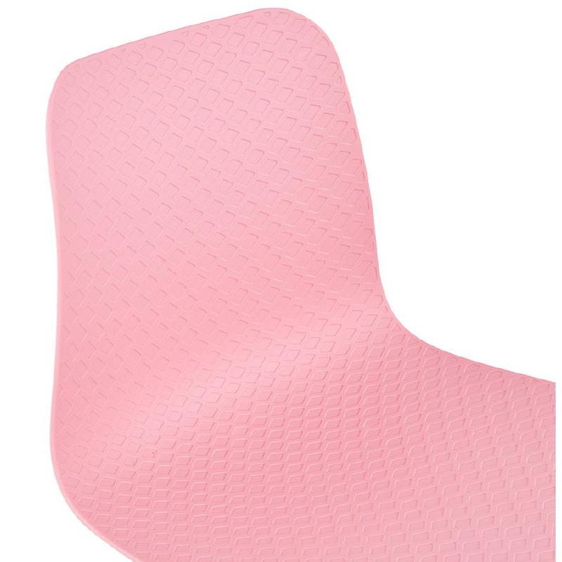 Chaise design et industrielle VENUS pieds métal noir (rose) - image 39348