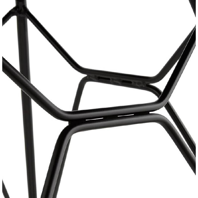 Chaise design et industrielle VENUS pieds métal noir (rose) - image 39353