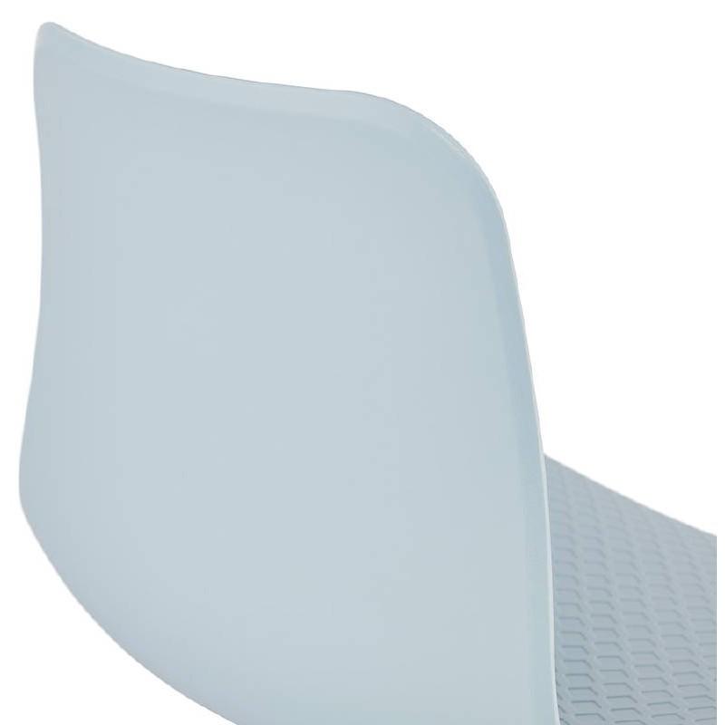 Office Chair on wheels JANICE polypropylene feet chrome metal (blue sky) - image 39401