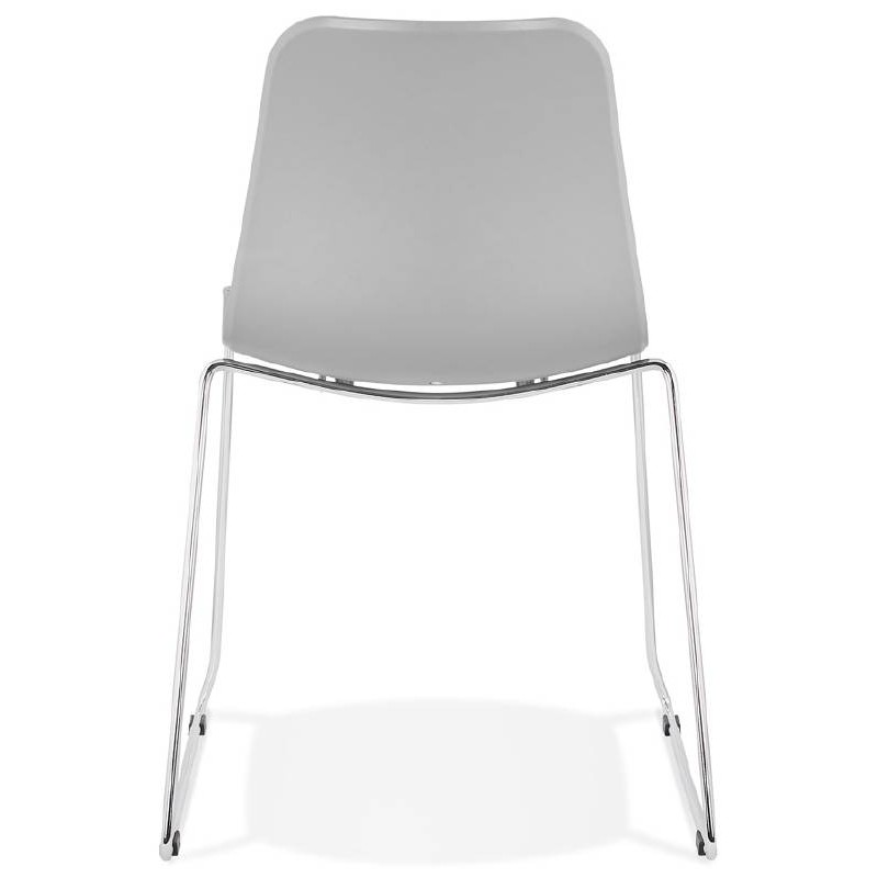 Modern Chair ALIX foot chromed metal (light gray) - image 39447