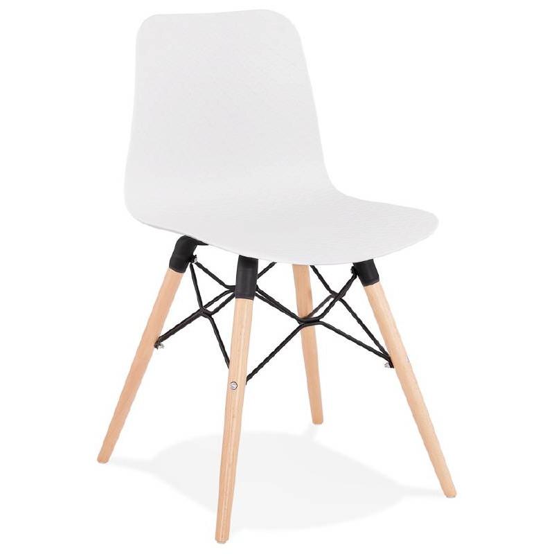 Chaise design scandinave CANDICE (blanc) - image 39454