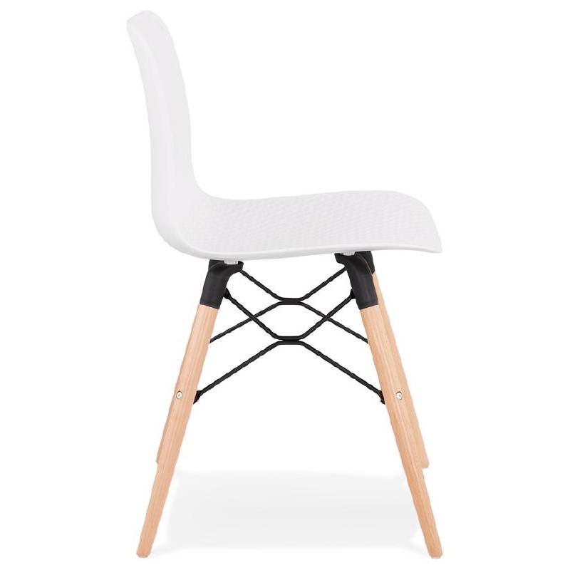 Chaise design scandinave CANDICE (blanc) - image 39456