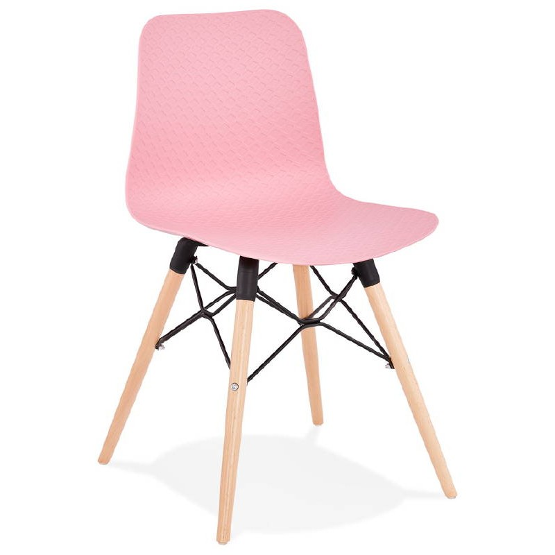Chaise design scandinave CANDICE (rose) - image 39484