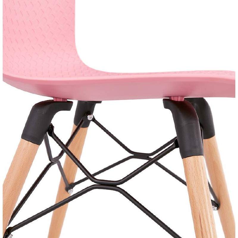 Chaise design scandinave CANDICE (rose) - image 39494