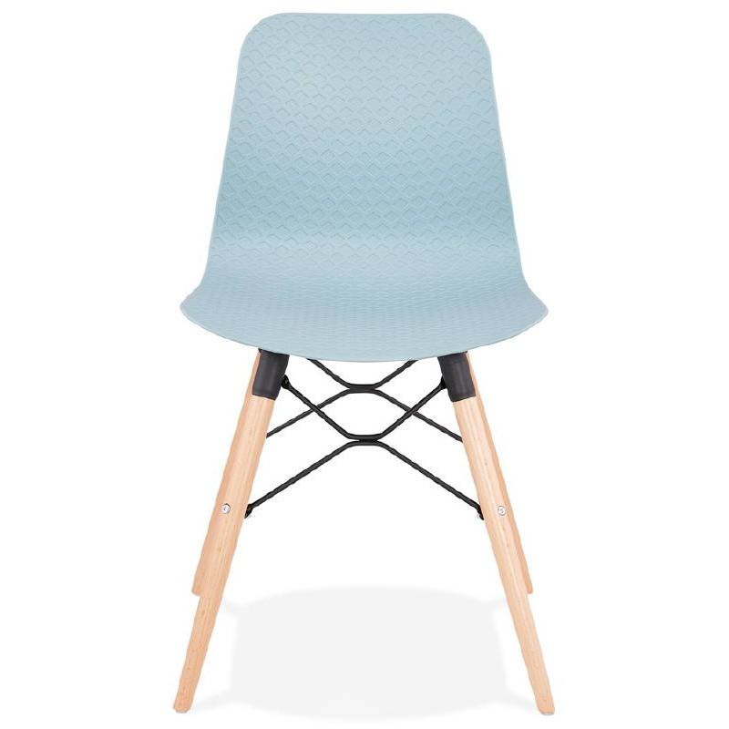 Chaise design scandinave CANDICE (bleu ciel) - image 39500