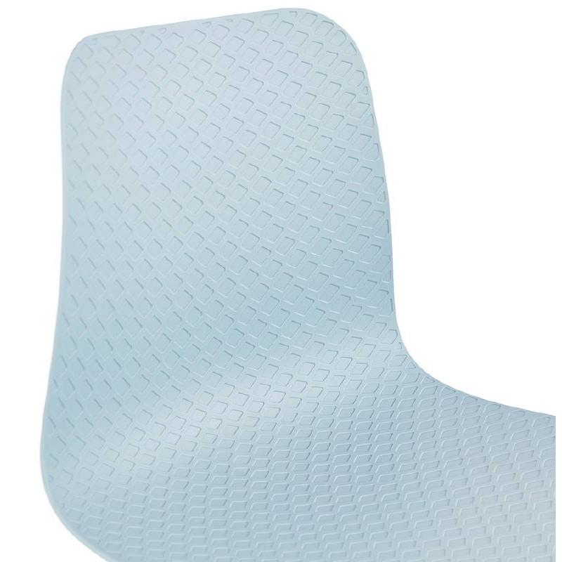 Chaise design scandinave CANDICE (bleu ciel) - image 39504