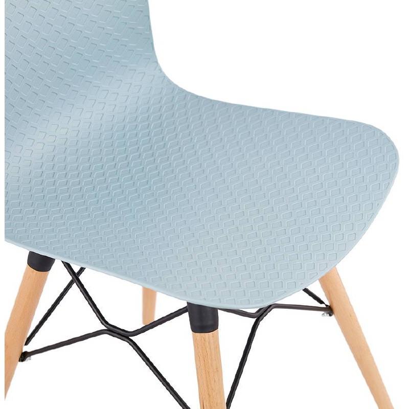 Chaise design scandinave CANDICE (bleu ciel) - image 39506