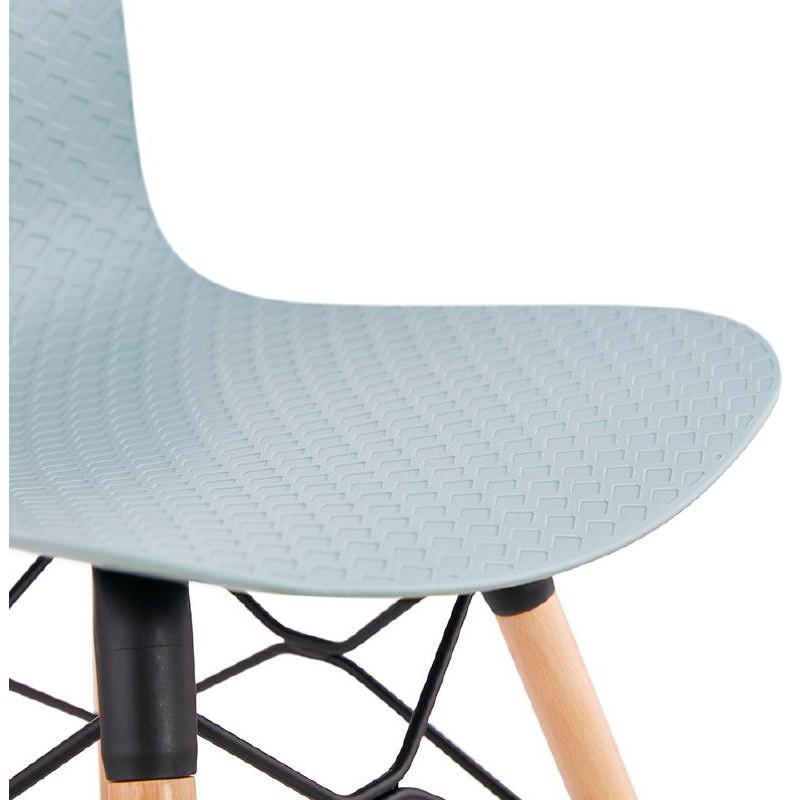 Chaise design scandinave CANDICE (bleu ciel) - image 39508