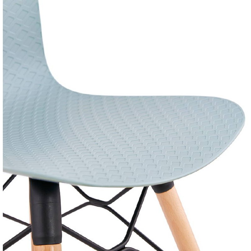 Skandinavisches Design Stuhl CANDICE (himmelblau) - image 39508