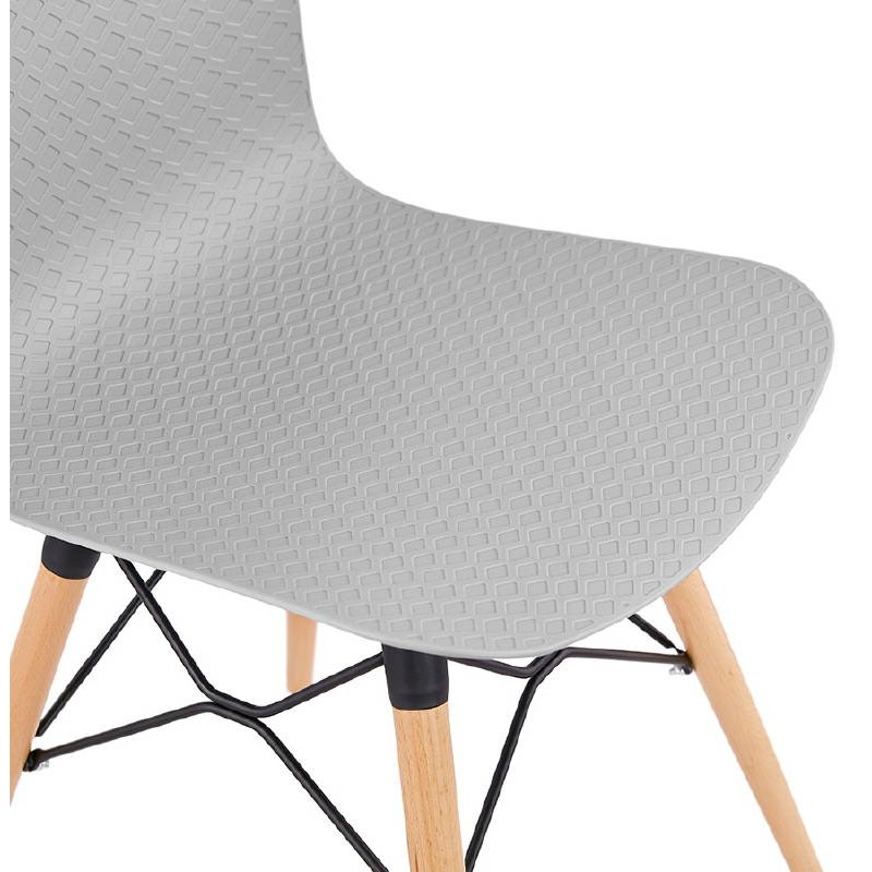 Chaise design scandinave CANDICE (gris clair) - image 39521