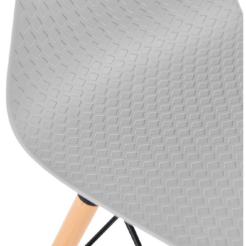 Chaise design scandinave CANDICE (gris clair) - image 39522