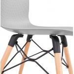 Sedia design scandinavo CANDICE (grigio chiaro)