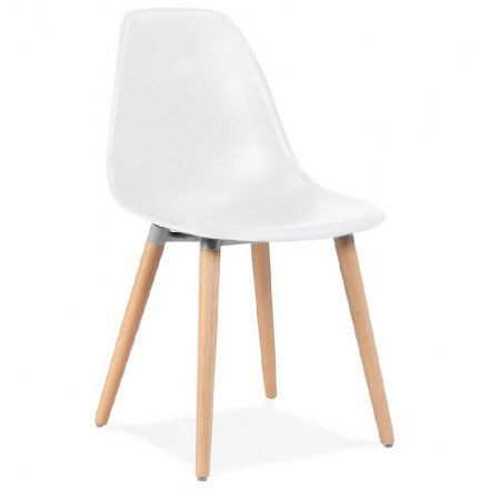 Sedia design scandinavo ANGELINA (bianco)