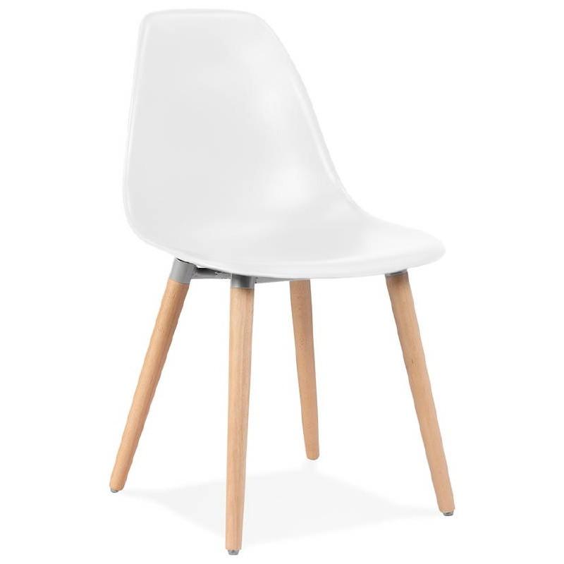 Chaise design scandinave ANGELINA (blanc)