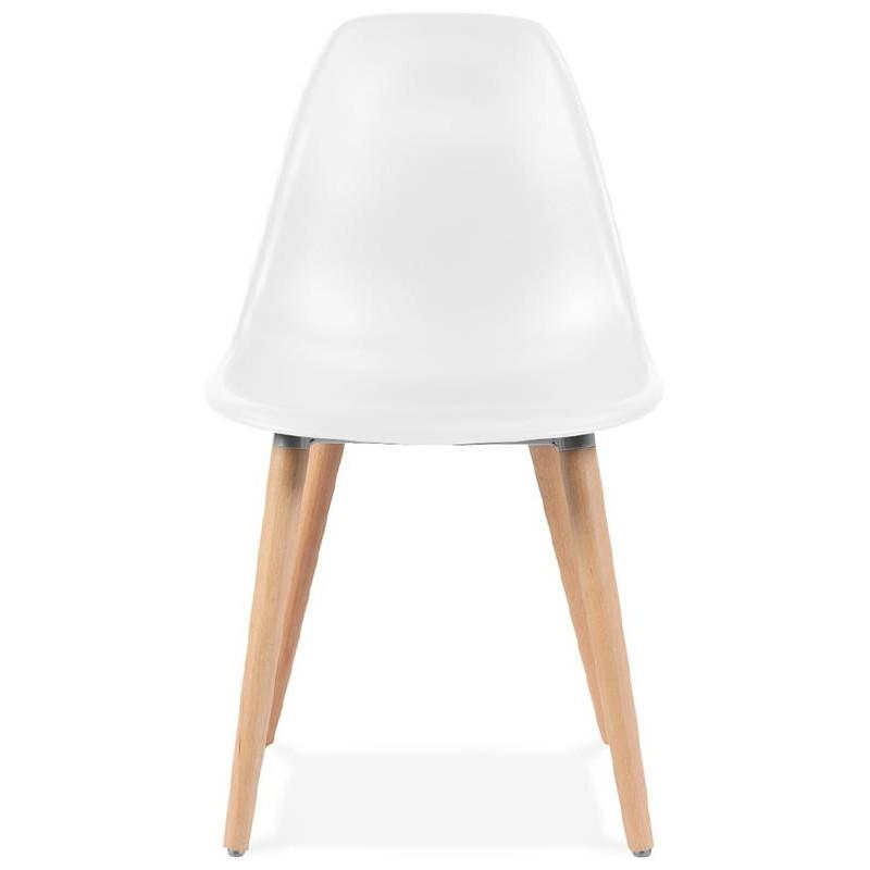 Scandinavian design chair ANGELINA (white) - image 39530