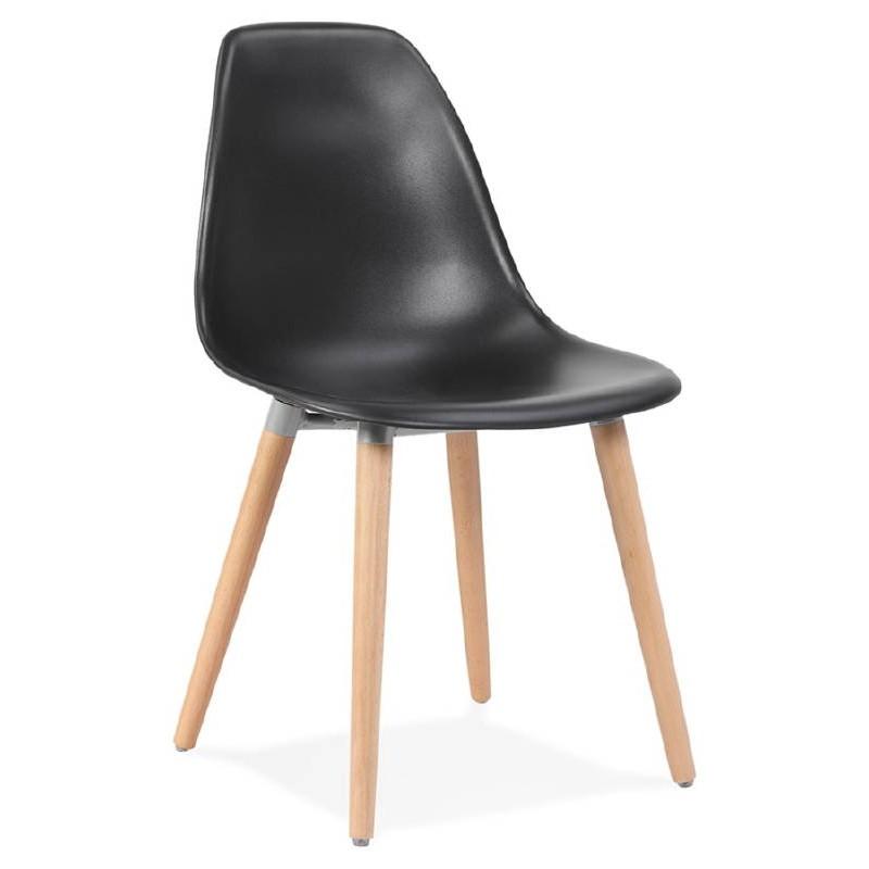 Skandinavisches Design Stuhl ANGELINA (schwarz)