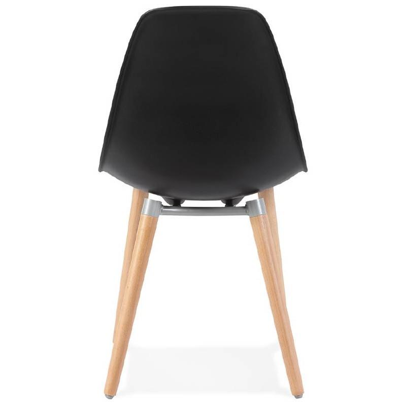 Skandinavisches Design Stuhl ANGELINA (schwarz) - image 39543