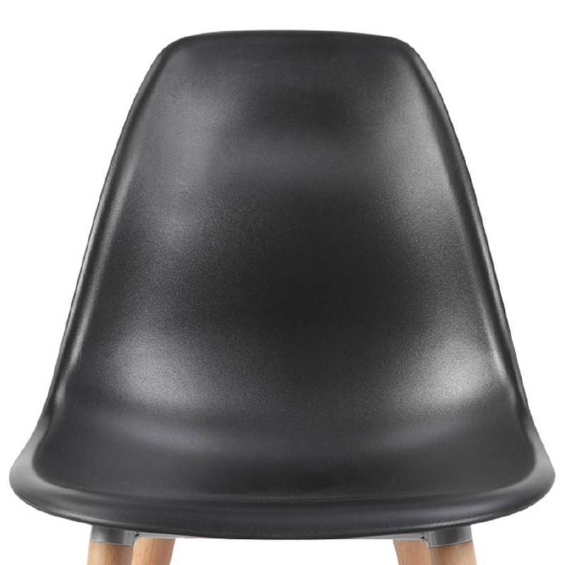 Skandinavisches Design Stuhl ANGELINA (schwarz) - image 39544