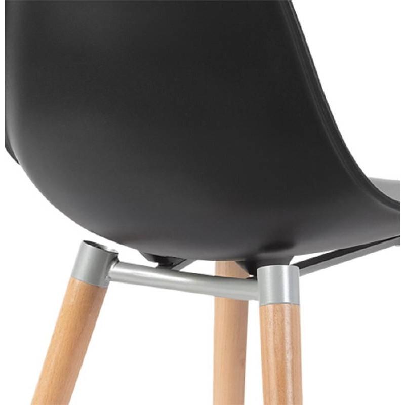 Skandinavisches Design Stuhl ANGELINA (schwarz) - image 39545